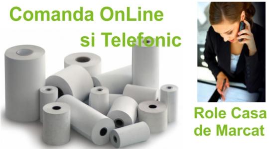 Comanda OnLine si Telefonic Role pentru Case de Marcat