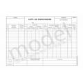 Lista de Inventariere 14-3-12, Carnet A4, 2 Ex., 50 Seturi