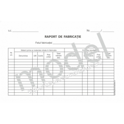 Raport de Fabricatie, Carnet A5, 1 Ex., 100 File